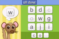 Wilton the Weasel helps your child build a word